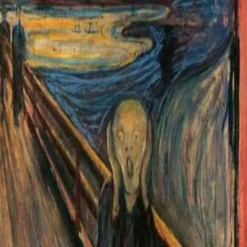 Lukisan ekspresionis The Scream Edvard Munch