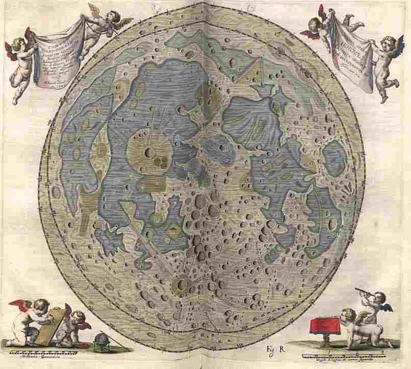Peta Bulan karya Johannes Hevelius dari Selenographia