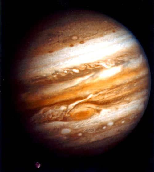 Yupiter - Voyager 1 mengabadikan foto ini pada 24 Januari 1979