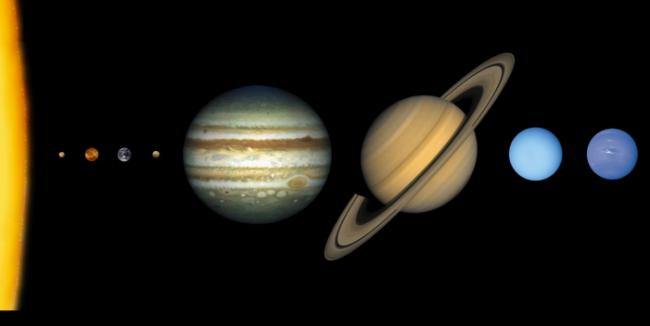 Perbandingan Ukuran Planet Merkurius, Venus, Bumi & Mars
