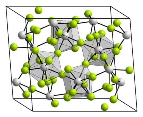 Struktur kristal thorium tetrafluorida