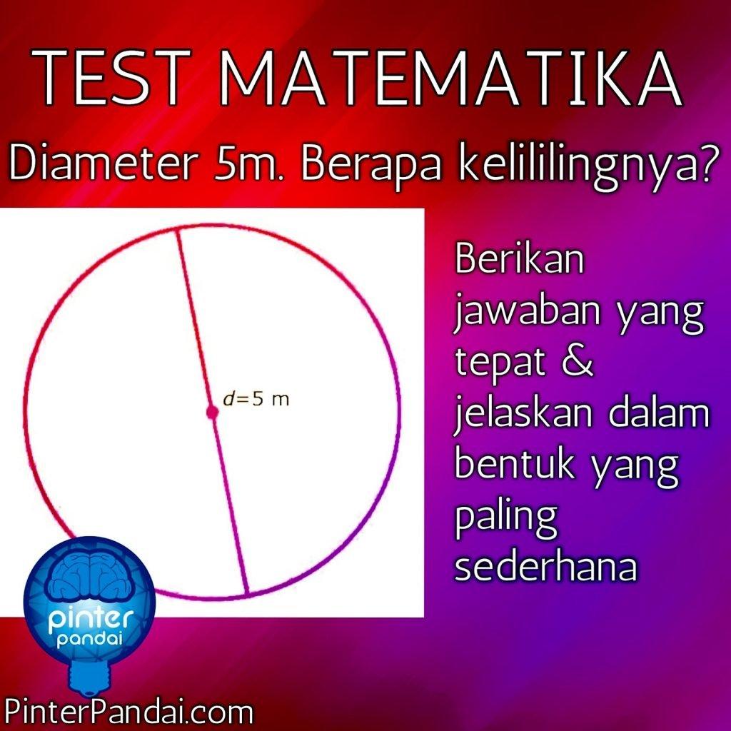 rumus lingkaran test matematika