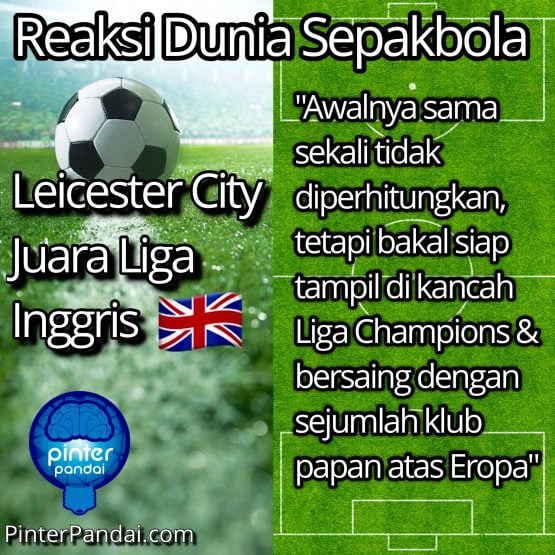 Leicester City Juara Liga Inggris sepak bola 2015-2016