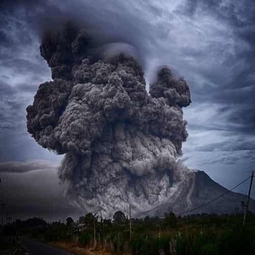 Hasil letusan gunung berapi