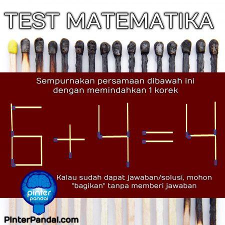 test matematika korek api