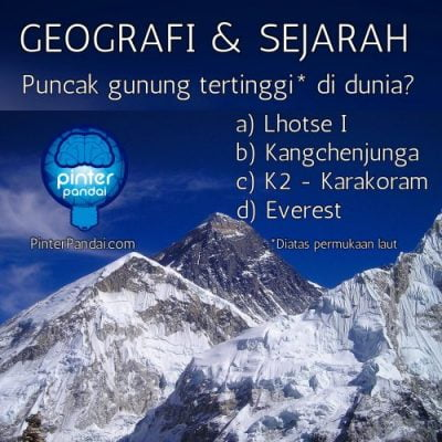 Everest puncak gunung tertinggi