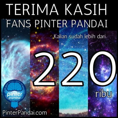 Terima kasih fans PINTERPANDAI Facebook kita sudah lebih dari 220000