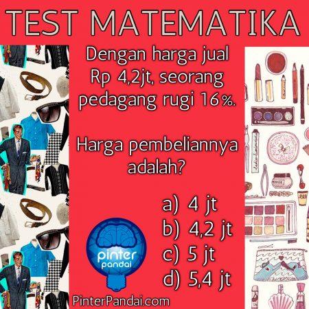 test matematika harga jual