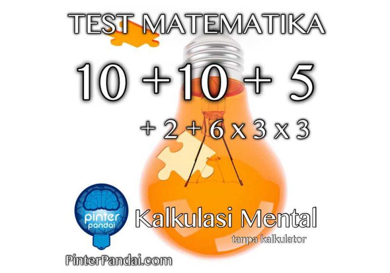 test matematika kalkulasi mental