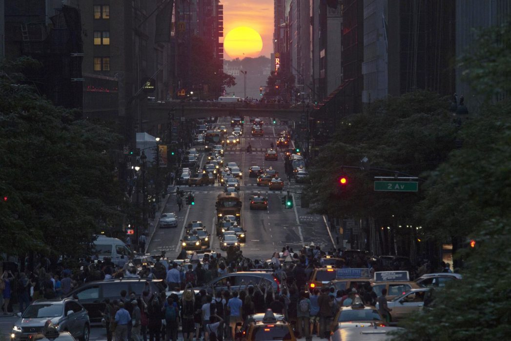 new york city Manhattanhenge