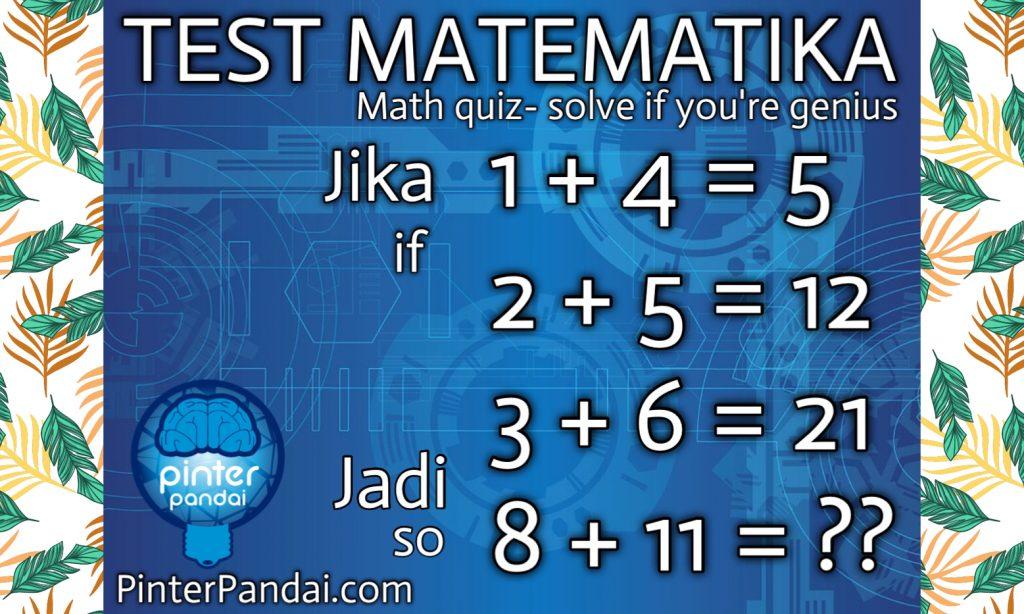 Quiz Matematika jenius