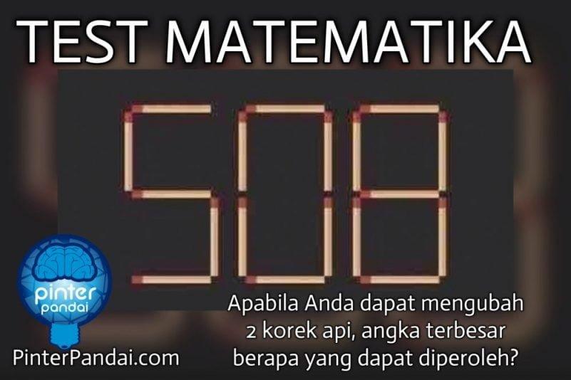 Tes matematika korek api