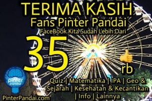 Terima Kasih Fans Pinter Pandai Anda Sudah Lebih Dari 350 000