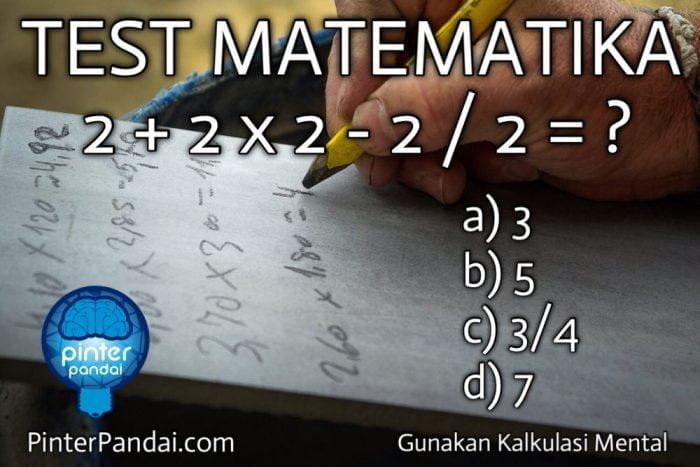Quiz Test Matematika Perkalian Pengurangan Pembagian Contoh Soal 2 2 X 2 2 2