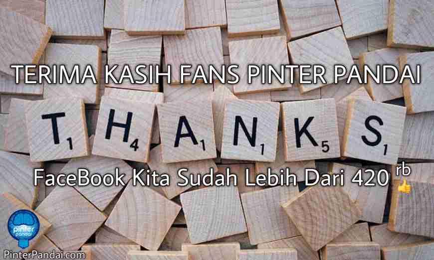 Terima Kasih Fans Pinter Pandai Anda Sudah Lebih Dari 420000