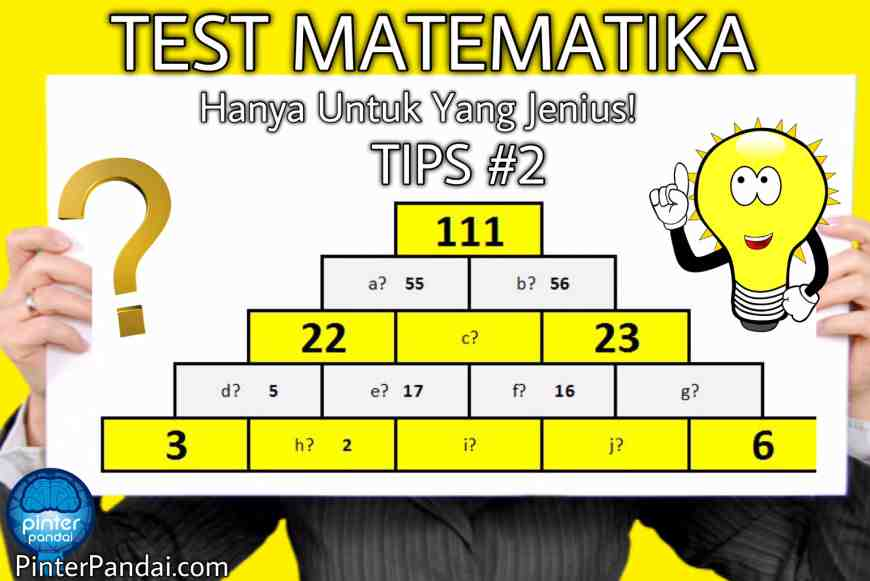 Tes Matematika Teka-Teki Angka Piramida Jenius
