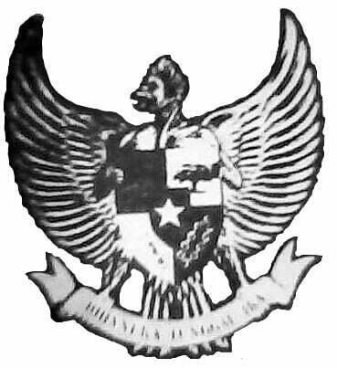 Rancangan awal Garuda Pancasila oleh Sultan Hamid II masih menampilkan bentuk tradisional Garuda yang bertubuh manusia.