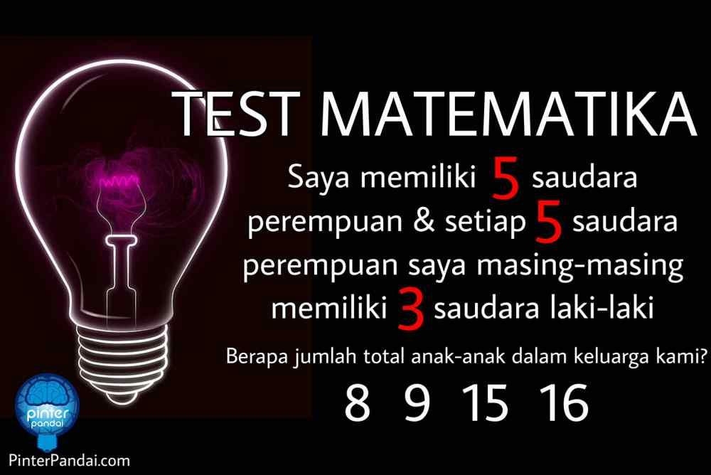 Tes Matematika Permasalahan, Perumpamaan / Pemisalan
