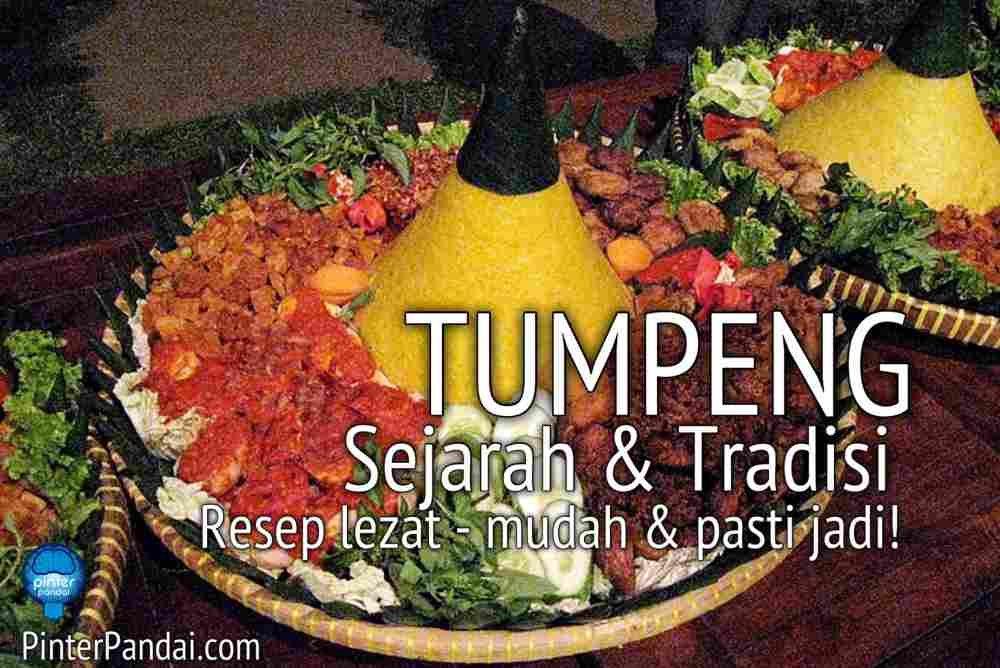 Nasi tumpeng makanan Indonesia