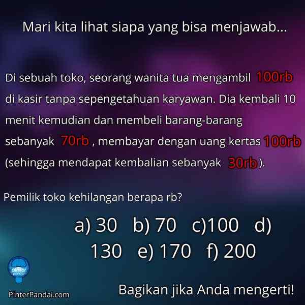 Tes matematika menghitung uang