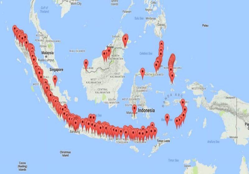 daftar Gunung berapi di Indonesia