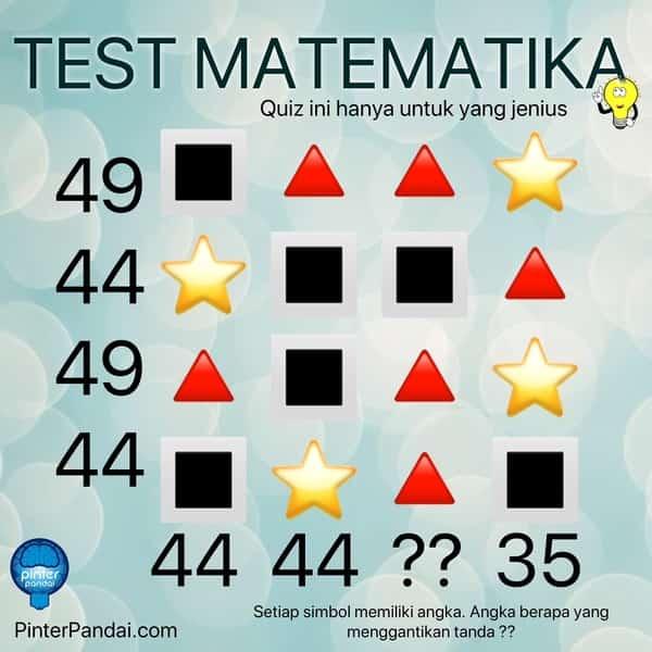 Quiz Matematika Deret Angka-Simbol