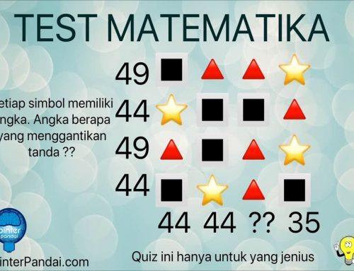 Quiz Matematika Deret Angka Dan Simbol: Bintang, Kotak, Segitiga