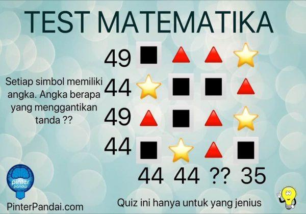 Quiz Matematika Deret Angka Dan Simbol