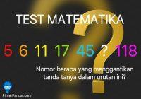 Test matematika urutan deret seri angka