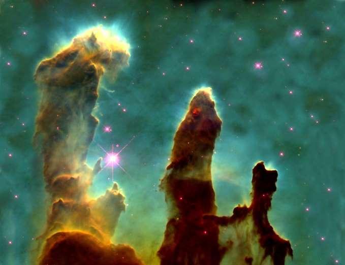 Kreasi pilar-pilar di Nebula Elang