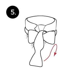 Langkah 5 mengikat dasi kupu-kupu
