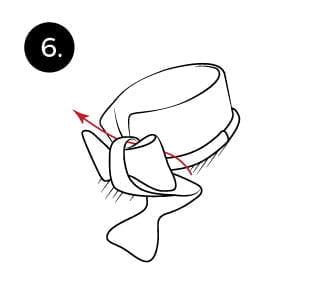 Langkah 6 mengikat dasi kupu-kupu