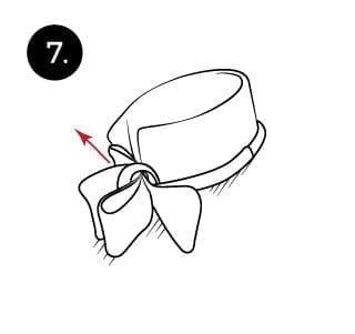 Langkah 7 mengikat dasi kupu-kupu