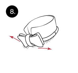 Langkah 8 mengikat dasi kupu-kupu