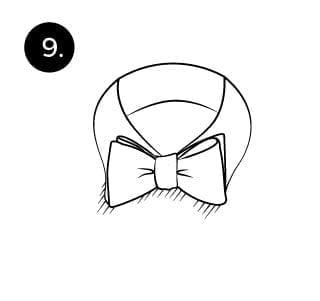 Langkah 9 mengikat dasi kupu-kupu