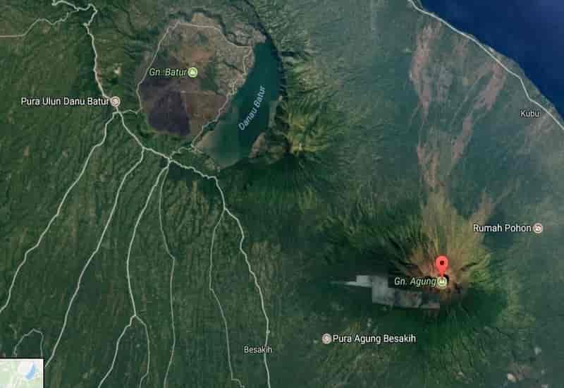 Lokasi Gunung Agung