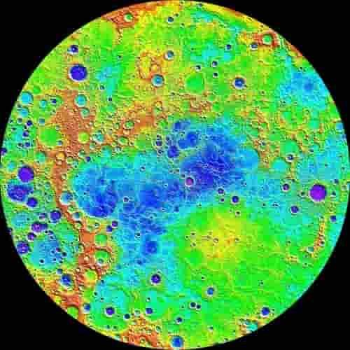 Peta belahan planet Merkurius