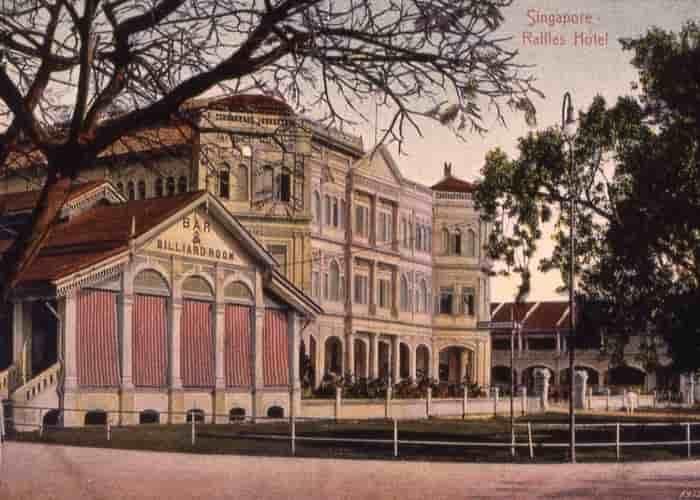 Raffles hotel singapore facade 1896