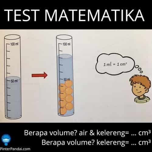 Tes Matematika Menghitung Volume