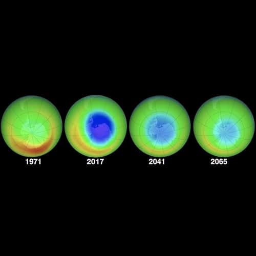 Lubang di lapisan ozon menyusut