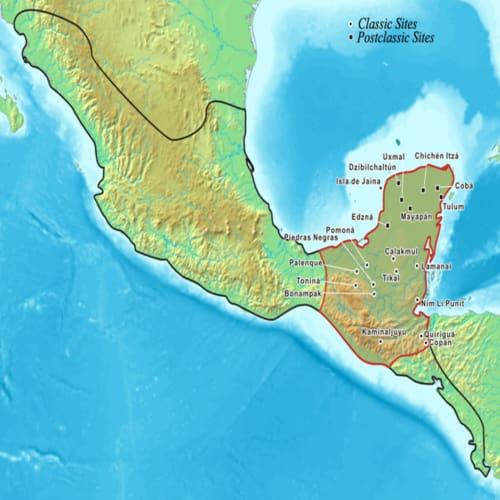 Peta Peradaban Maya