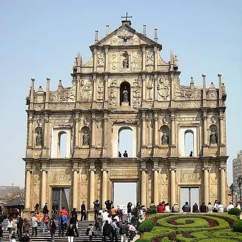 Reruntuhan Gereja Santo Paulus Makau