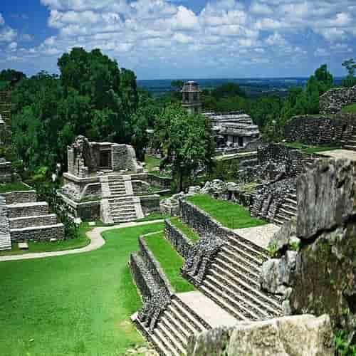 Situs purbakala Palenque di Meksiko