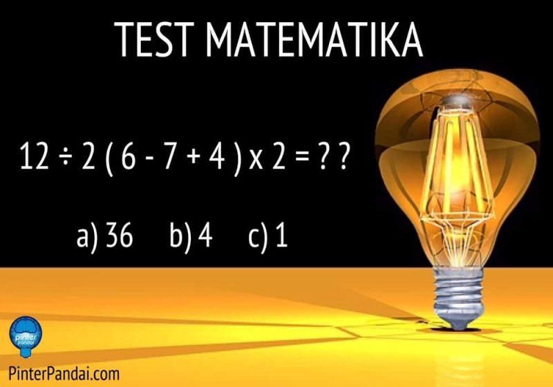 Tes Matematika 12÷2(6-7+4)x2