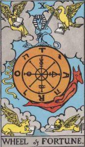 10 Tarot Wheel of Fortune - Roda Keberuntungan