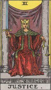 11 Tarot Justice - Keadilan