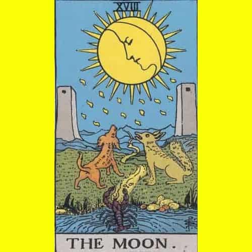 Arti Kartu Tarot 18 Moon - Bulan