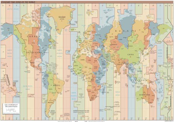 Daftar Zona Waktu Dunia