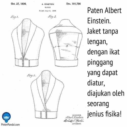 Paten Albert Einstein Jaket tanpa lengan