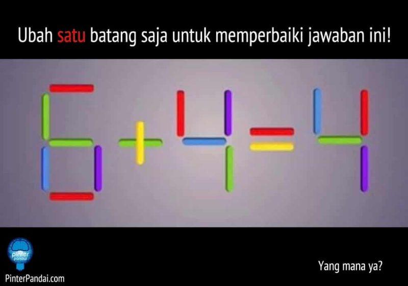 permainan matematika ubah 1 batang